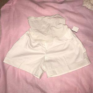 Motherhood maternity white dress shorts nwt XS