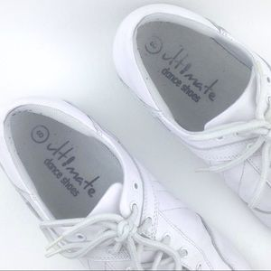 Himate Dance Shoes Shoes - Himate White leather sueded dance shoes - 9W