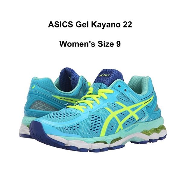 NWT Asics Gel Kayano 22 Running Shoes Blue Size 9 NWT