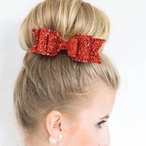 Boutique Accessories - 🎀HP🎀 Glitter Fabric Bow Hair Barrette