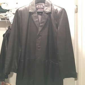 Wilsons Leather Other - Wilson's Leather. Black, leather peacoat