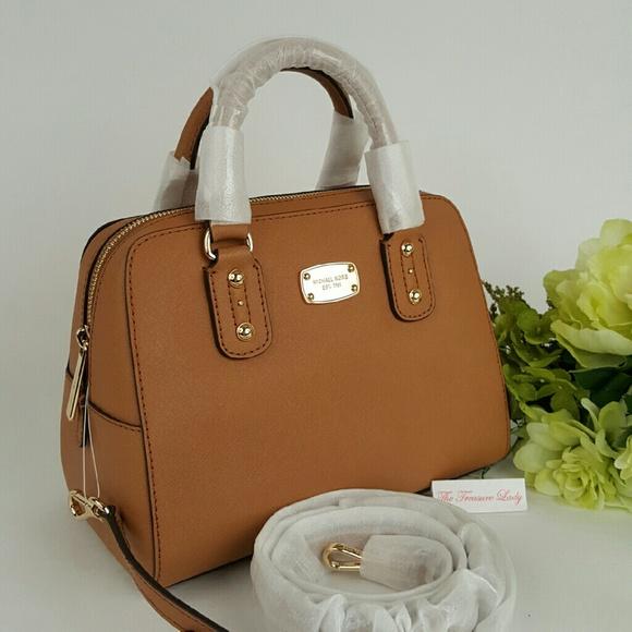 b9089be639ae Michael Kors Bags | Saffiano Small Satchel Purse Mk Brown | Poshmark
