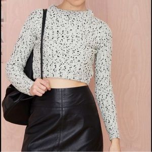 NWOT Nasty Gal Cropped Sweater