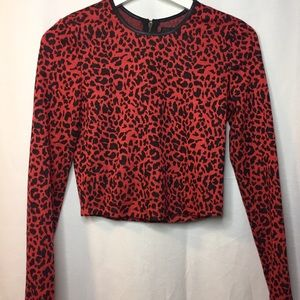 Nasty Gal Leopard cropped sweater