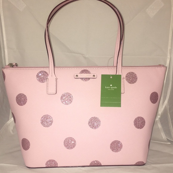 46 off kate spade handbags kate spade pink polka dot haven lane kate spade pink polka dot haven lane bag nwt junglespirit Gallery