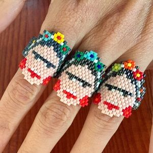 Jewelry - ✨HP✨Awesome Hand Made Frida Kahlo Ring