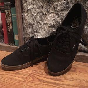 673b4530720b3e Vans Shoes - Size 8 Black Lo-Pro Vans w  Tan Gum Sole