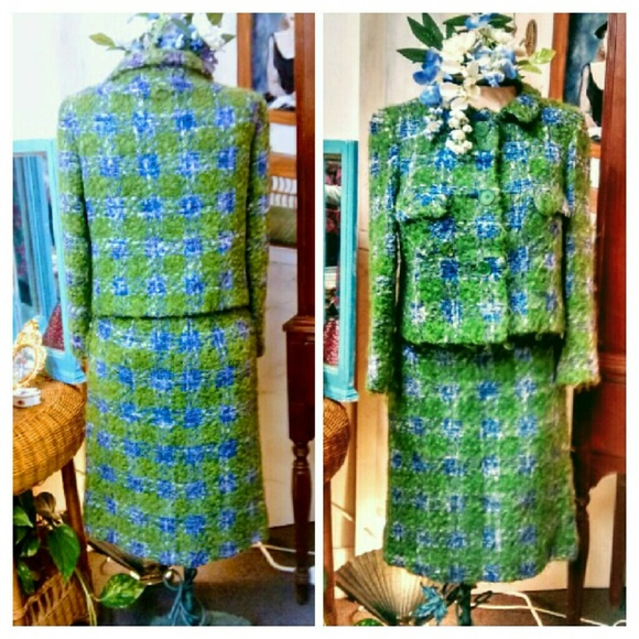 Vintage Dresses & Skirts - Seriously Awesome Vintage Felted Tweed Suit