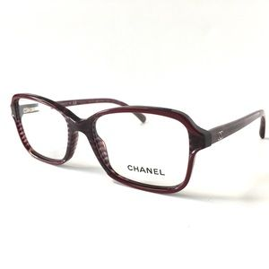 CHANEL Accessories - CHANEL Eyeglasses Burgundy Horn NWOT
