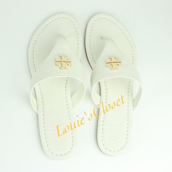 cb325d83759 Tory Burch Laura Flat Thong   Tumbled Leather