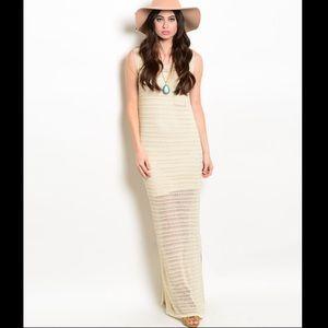 Dresses & Skirts - Crochet Maxi Dress Ivory S/L