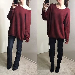 SALE 5★ Rustic Red Oversized Knit Sweater