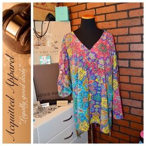 new directions Tops - Plus Size New Directions Adjustable Sleeve Tunic