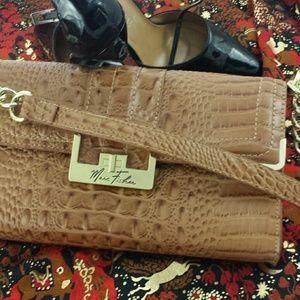 Marc Fisher  Handbags - Marc Fisher faux alligator shoulder bag 12 x 7