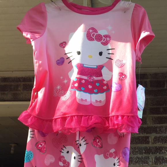 NWT Hello Kitty Pink 2 pc Pajama Pants Set 24 Mo. 1a8298ffc