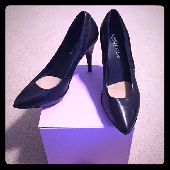67% off Audrey Brooke Shoes - Black small platform heels from ...