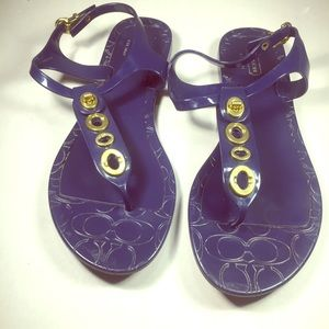 Coach Shoes - COACH Women's Jelly Sandals.  Size 8B