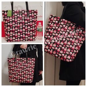 New Kate Spade large tote cupcakes pastry
