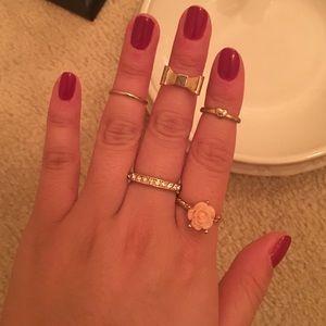 Romantic ring bundle set