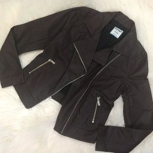Old Navy Jackets & Blazers - Old Navy Brown Vegan Leather Moto Jacket XS