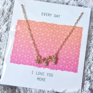 "Jewelry - ✨BNWT✨ Gold ""wifey"" necklace"