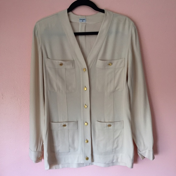 81% off CHANEL Jackets & Blazers - Vintage Chanel Cream ...