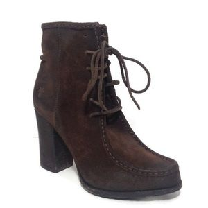 Frye Lace Up Distressed Parker Moc Short Boot NWT