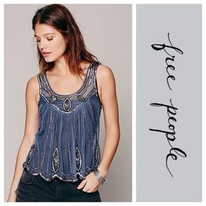 Free People Gatsby Beaded Top