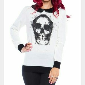 Iron Fist Sweaters - IRON FIST INKED UP LADIES COLLAR SWEATER