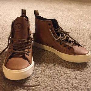 Inkkas Hightop Brown Leather sneakers 6