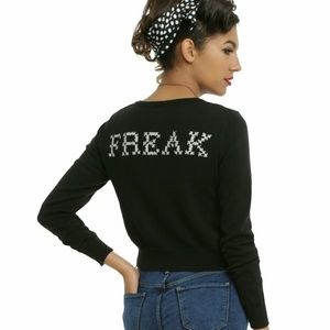 Iron Fist Sweaters - Iron Fist Kind Of A Freak Embroidered Cardigan
