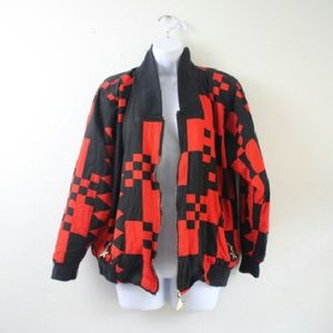 Vintage Jackets & Blazers - Janeve Vintage 90s Bomber Jacket