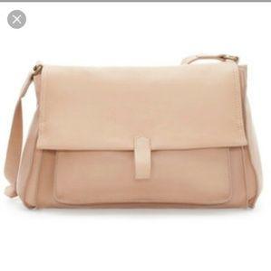 NWOT Zara Leather Messenger Bag