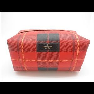 kate spade Handbags - Kate spade medium Davie makeup Bag red plaid