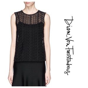 Coming Soon Betty Crochet Lace Sleeveless Top