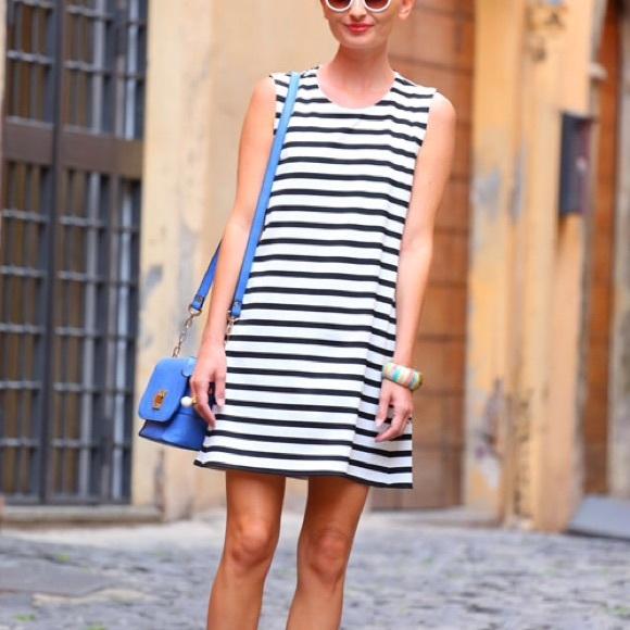 fdfb7bb5859 Zara Dresses Black White Striped Dress Poshmark