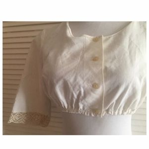 The Perfect Antique Bodice, Cotton, S/M, Crop Top