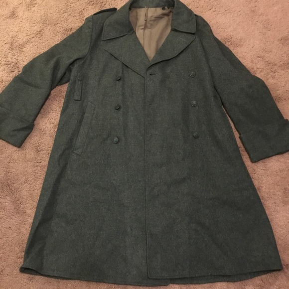 Vintage - Vintage Pristine Swiss Army Military Trench Coat L from ...