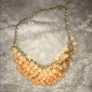 Pale Pink and Gold Statement Necklace