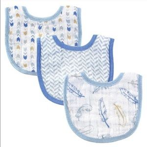 Hudson Baby Other - Hudson Baby 3 Pack Muslin Boy Baby Bibs