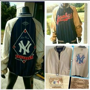 RARE-Reversible NY YANKEES COOPERSTOWN VTG JACKET
