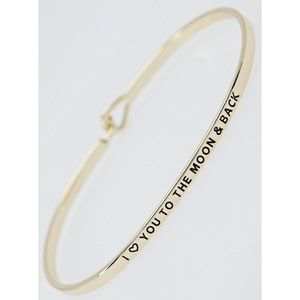 """""""To the moon & back"""" Bracelet-YELLOW GOLD"""