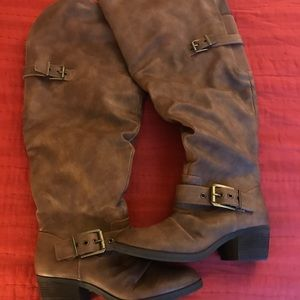 Shoes - Wide calf Knee high cowboy boots