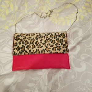 Clutch with long strap purse