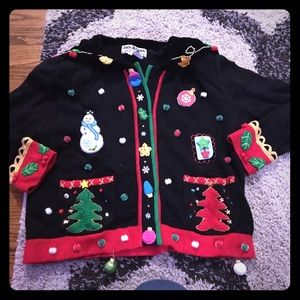 Sweaters - Awesome black ugly Christmas sweater