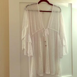 ELAN Other - ELAN sz L white swimwear cover up