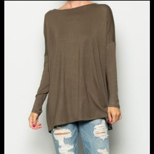 Tops - NWT Piko Top Olive