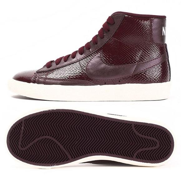 buy popular 5e170 959d7 Nike Shoes - Nike Blazer Mid Snakeskin Burgundy 685225-600 8.5