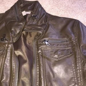 1a29e09d2 Faux Leather Moto Jacket- Charles & 1/2