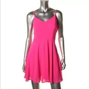 Lush Dresses & Skirts - Lush Pink Chiffon Adjustable Sleeves Mini Casual L